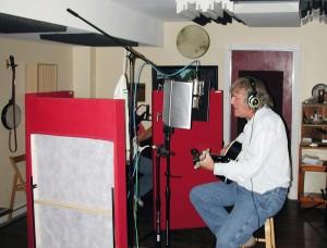 Jimmy McNally recording Holly Jolly