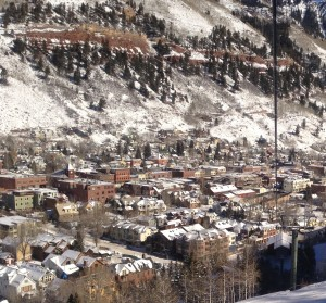 Telluride from Gondola in Winter